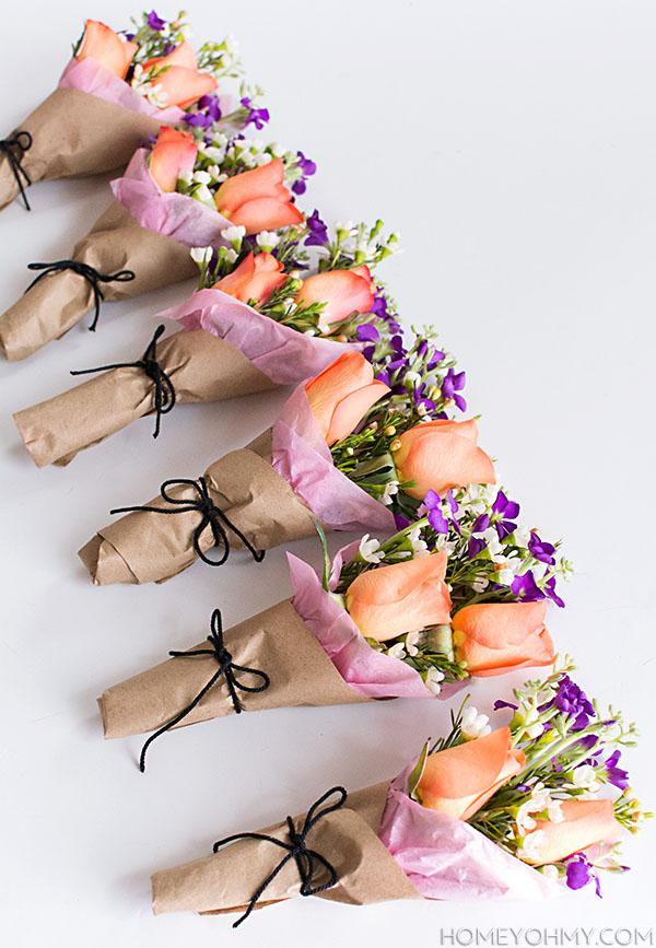 Mini Flower Bouquets Diy