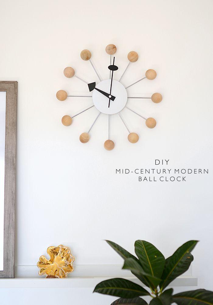 mid-century modern ball clock