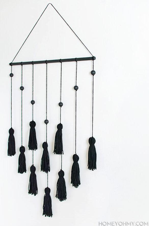 DIY Modern Tassel Wall Hanging-