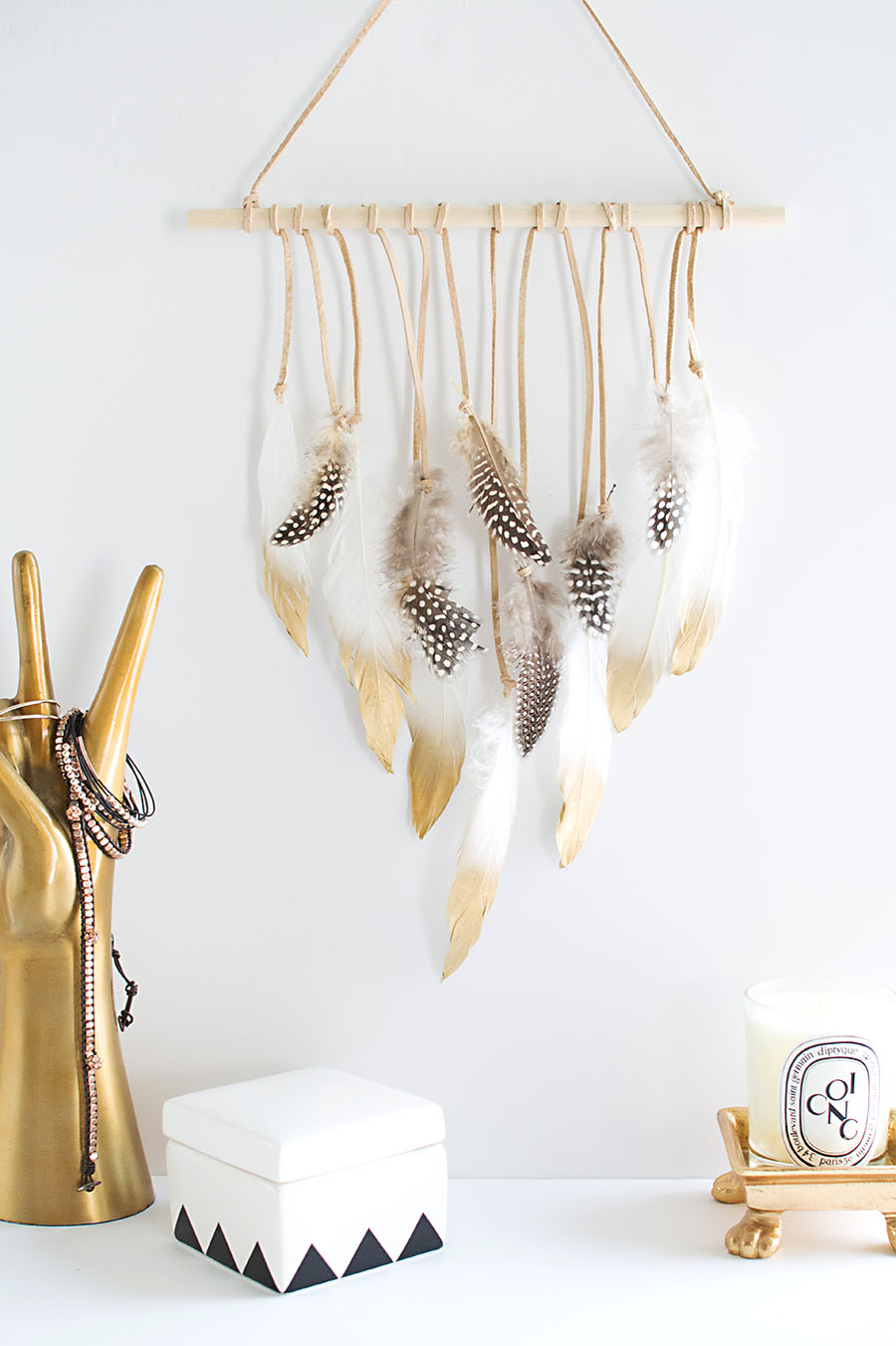Relatively DIY Feather Wall Hanging - Homey Oh My IW16
