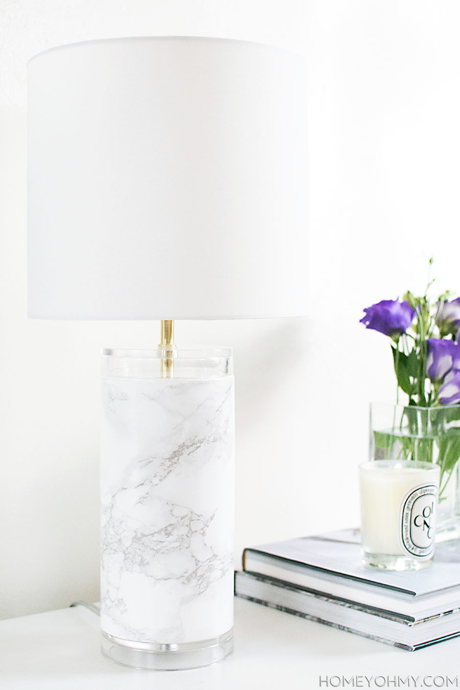 Faux marble lamp- DIY