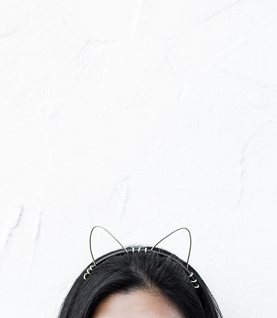DIY gold cat ears