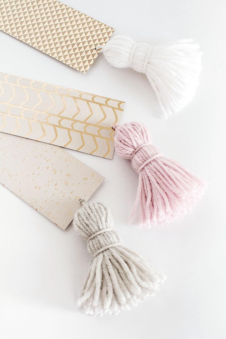 DIY-Chunky Tassel Bookmarks
