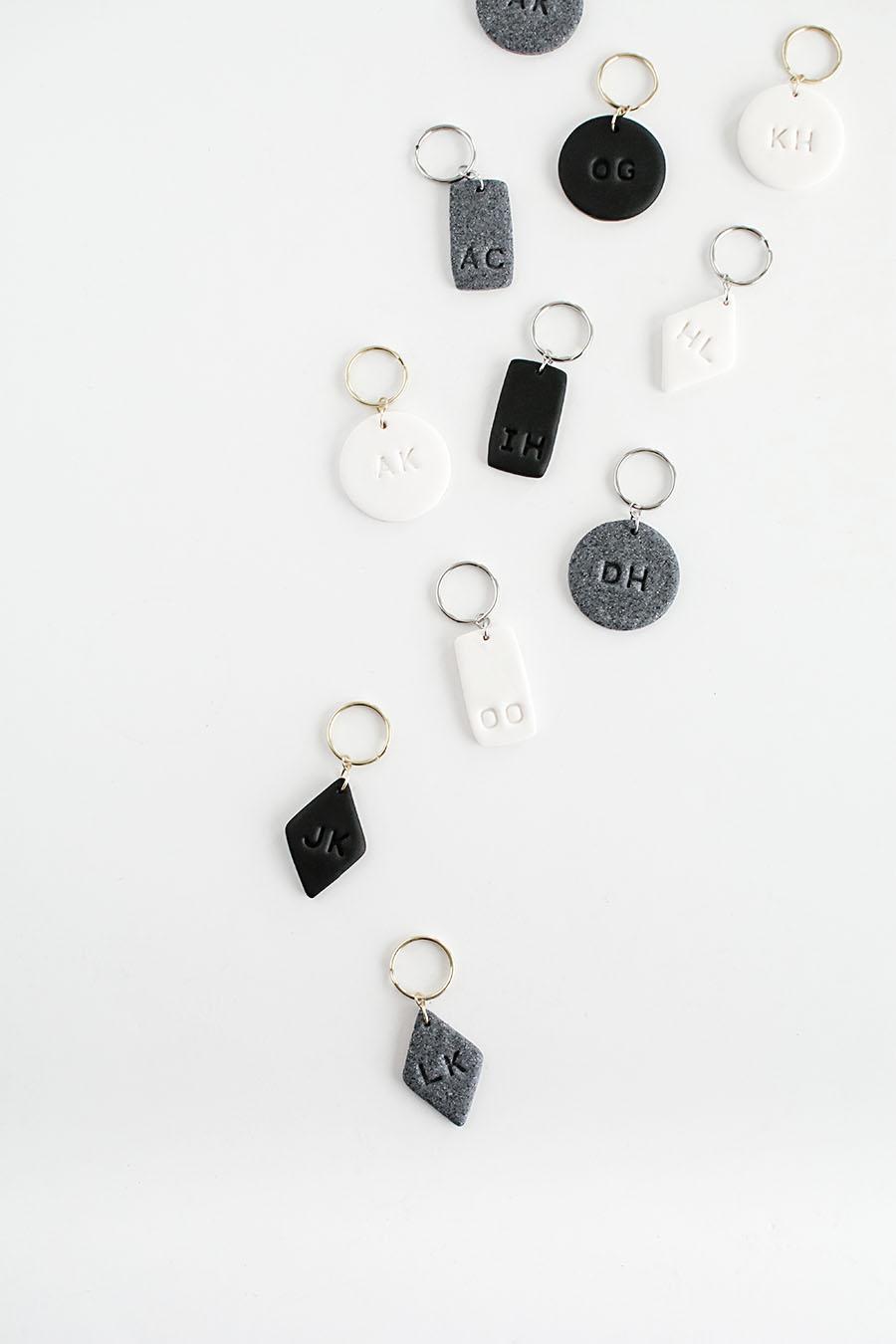 DIY- Monogram Clay Keychains