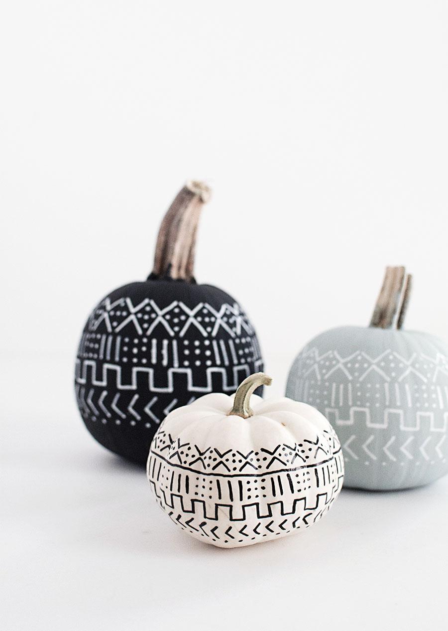 DIY - Mud Cloth Pumpkins