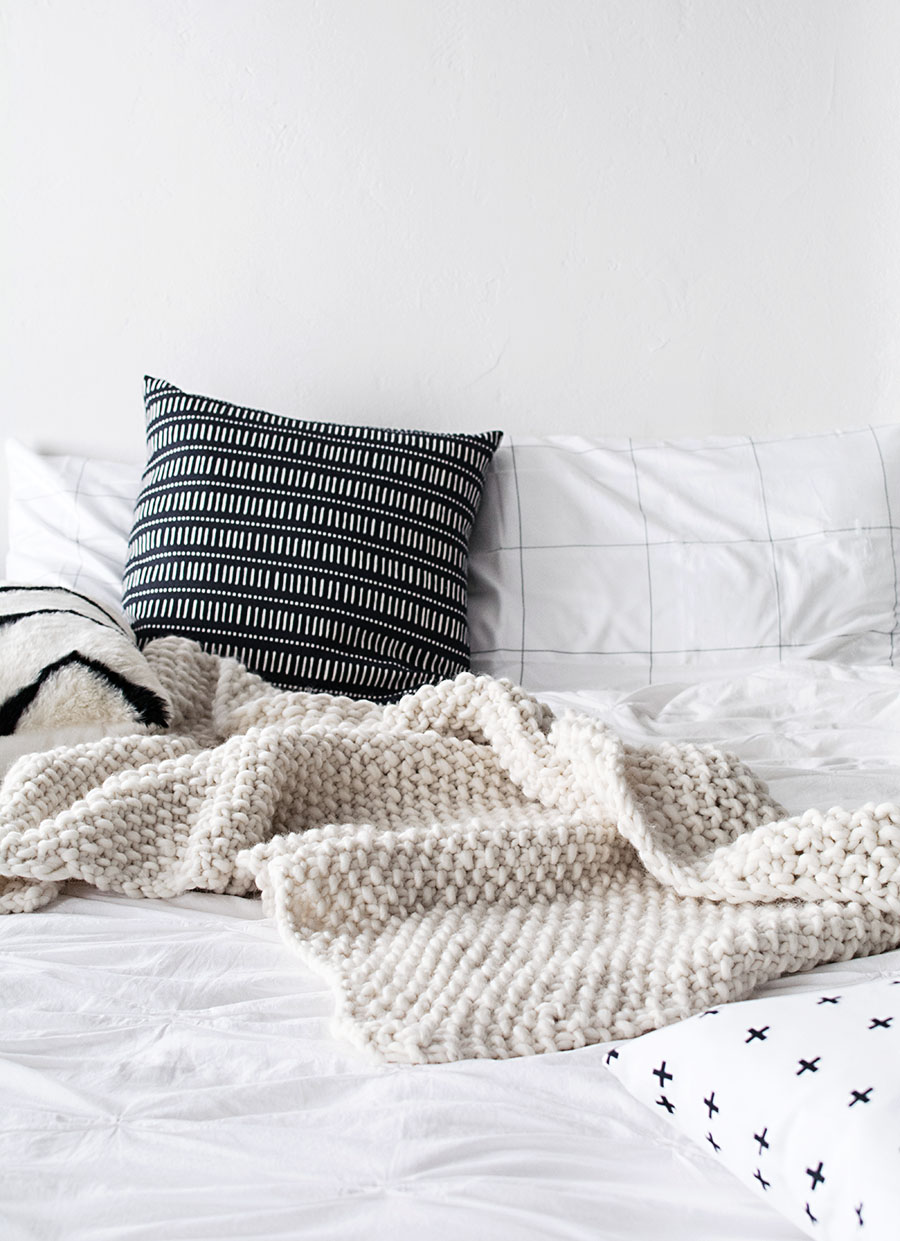 How To Make A Wool Blanket.Diy Wool Blanket With We Are Knitters Homey Oh My