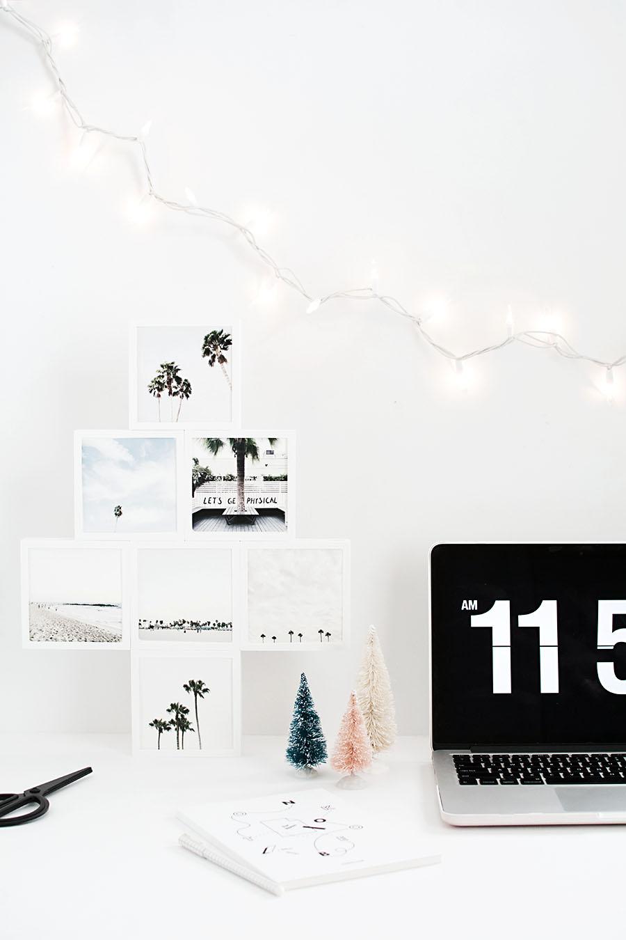DIY Photo Christmas Tree - Homey Oh My