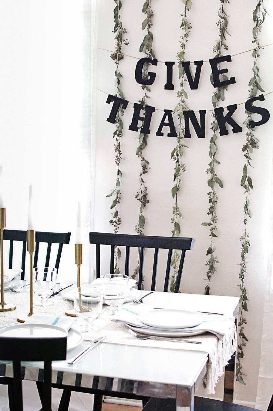 DIY Simple Thanksgiving Garland