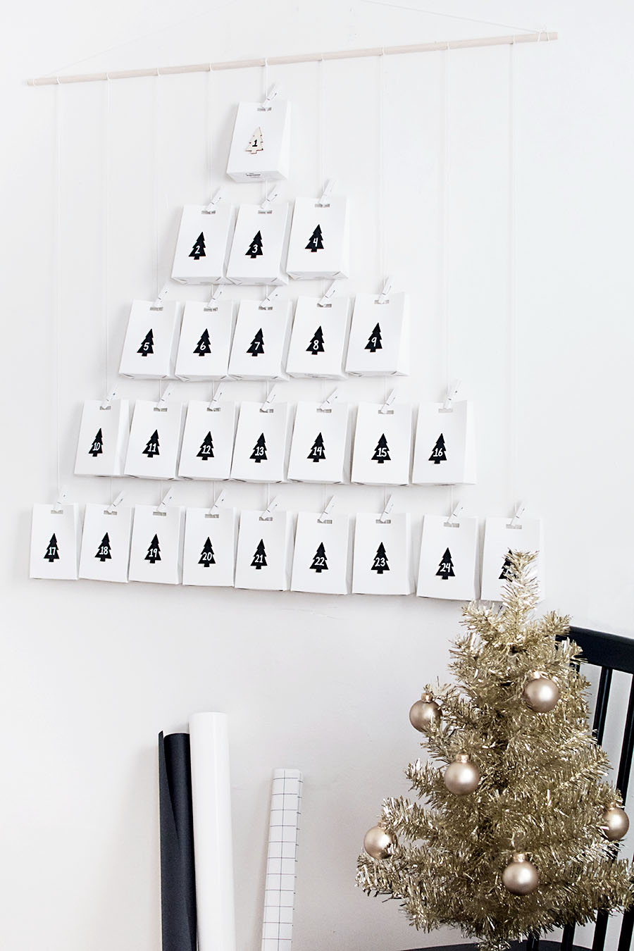 Modern advent calendar DIY