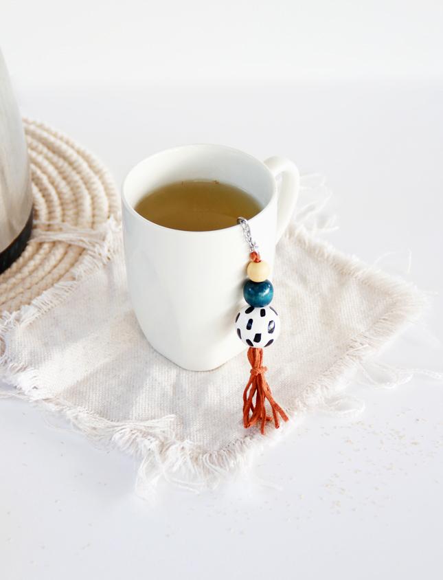 diy decorated tea strainer