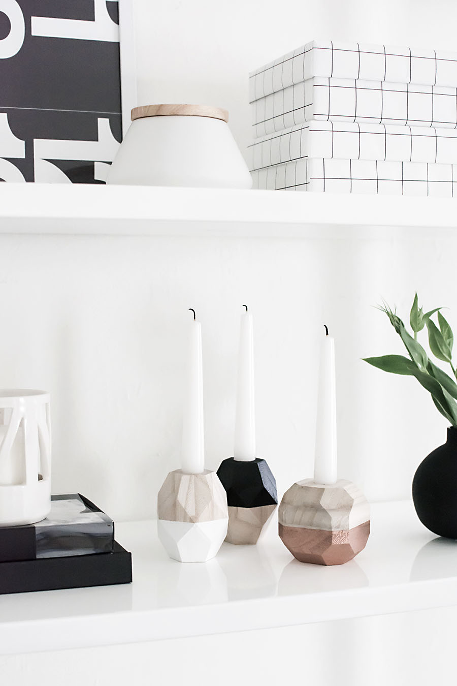 DIY-Geometric Candle Holders