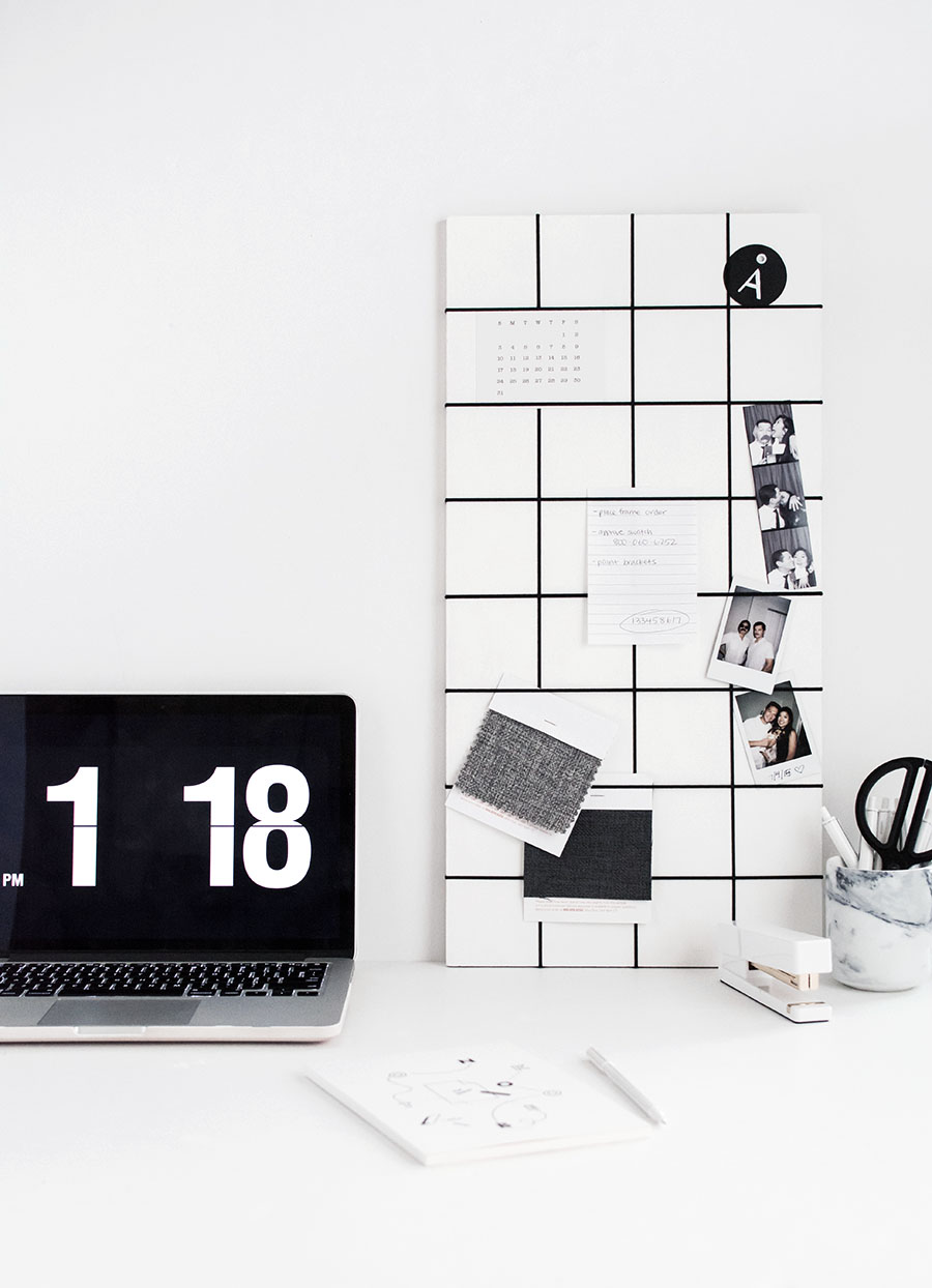 DIY memo board grid