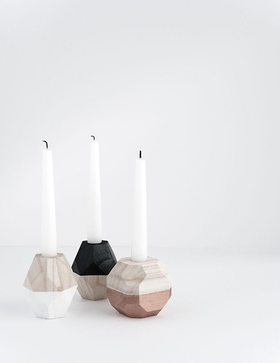 Geometric Candleholders DIY