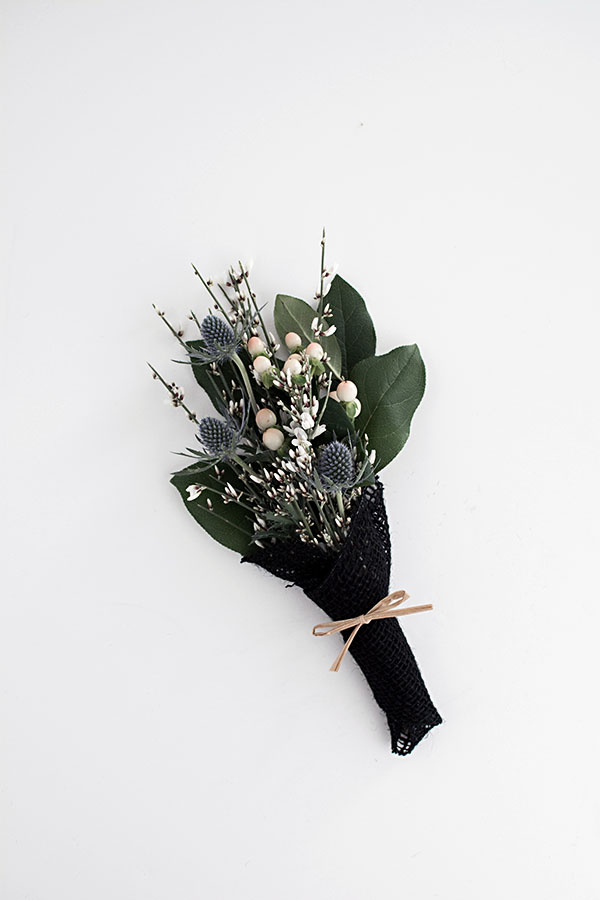 wrapped mini bouquet