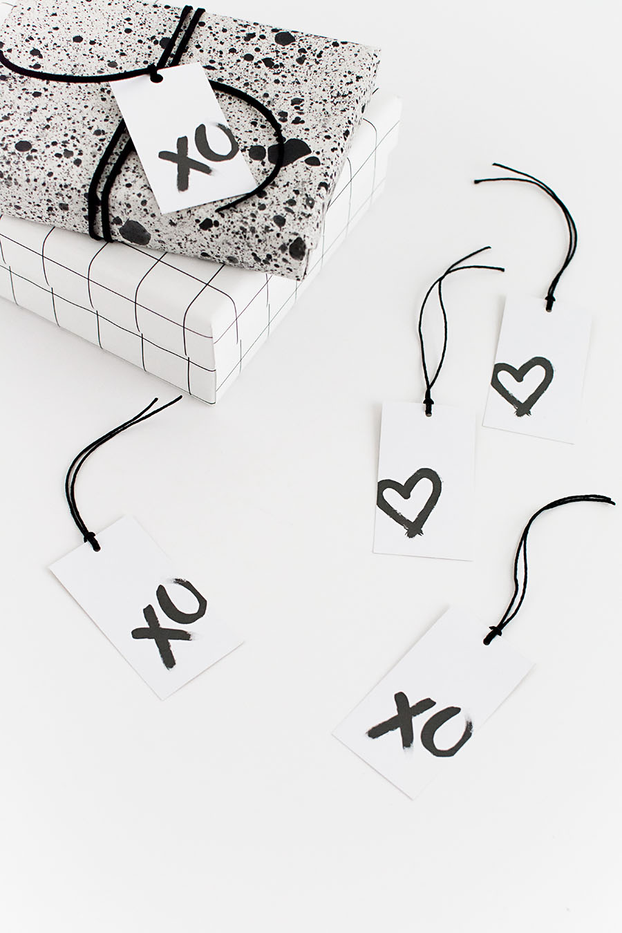 graphic regarding Printable Valentines Black and White named Printable Valentines Working day Present Tags - Homey Oh My