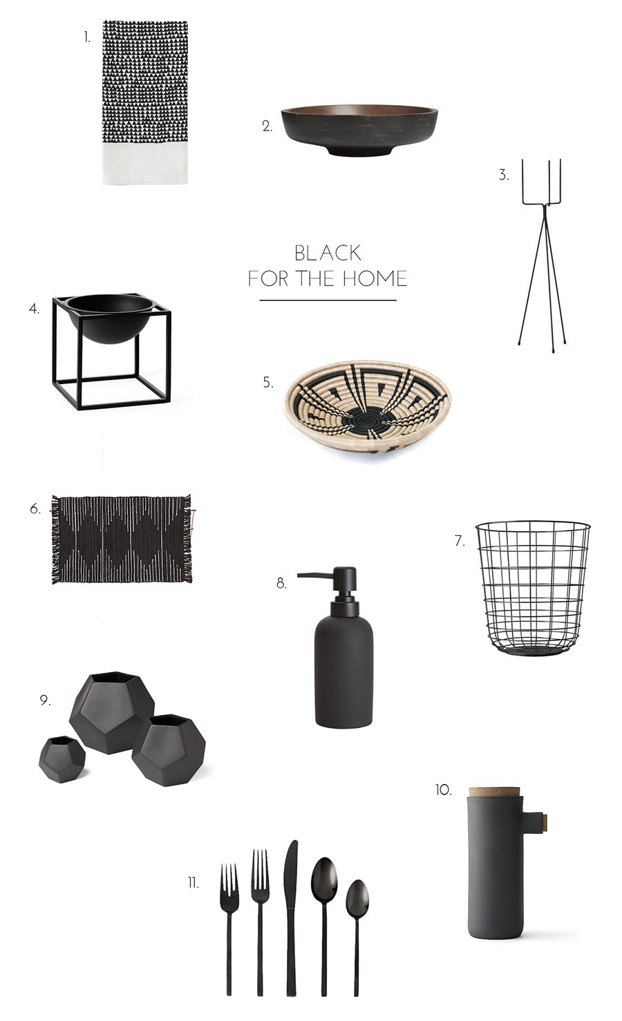 black for the home