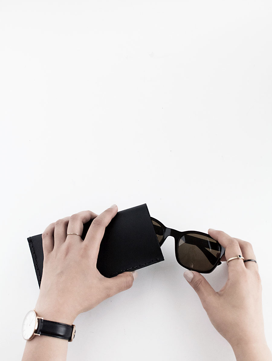 Leather Sunglasses Pouch - DIY