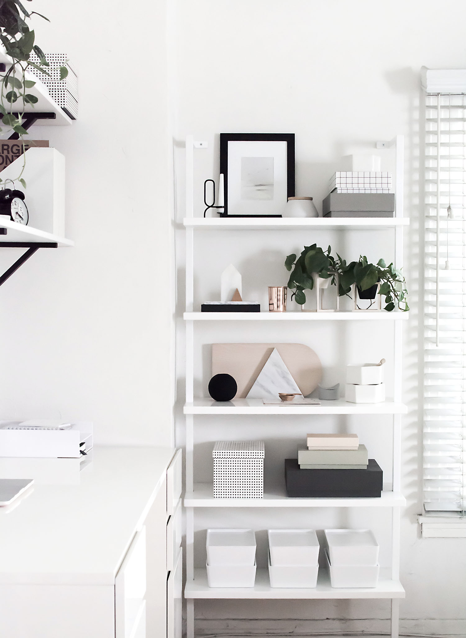 workspace shelves