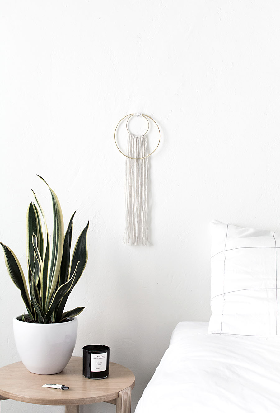 DIY Double Ring Wall Hanging