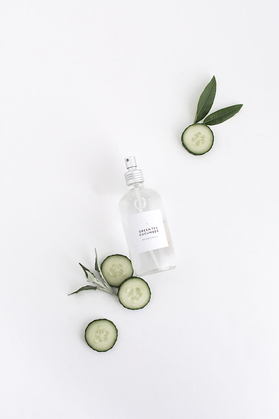 DIY Green Tea Cucumber room spray with printable label