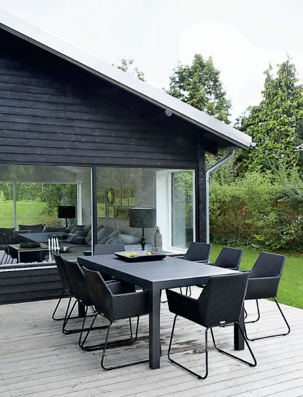 black patio