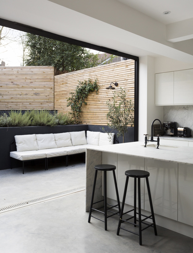 kitchen to outdoors