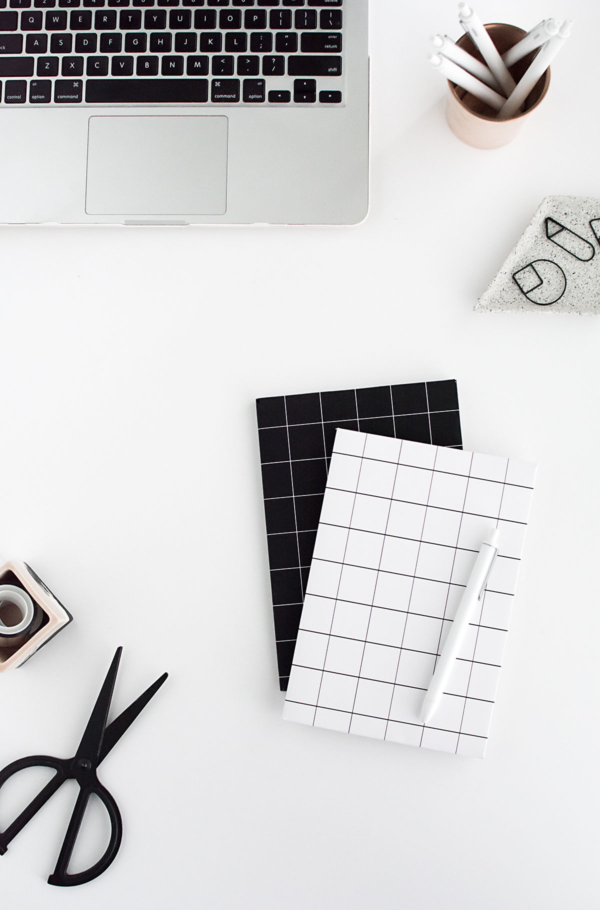 DIY grid notebook cover- free printable 2