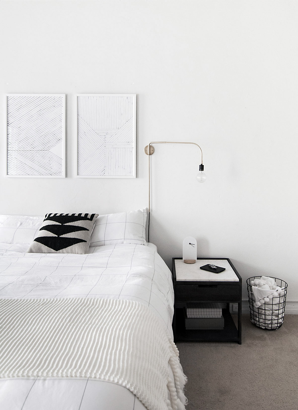 minimal monochrome bedroom-5