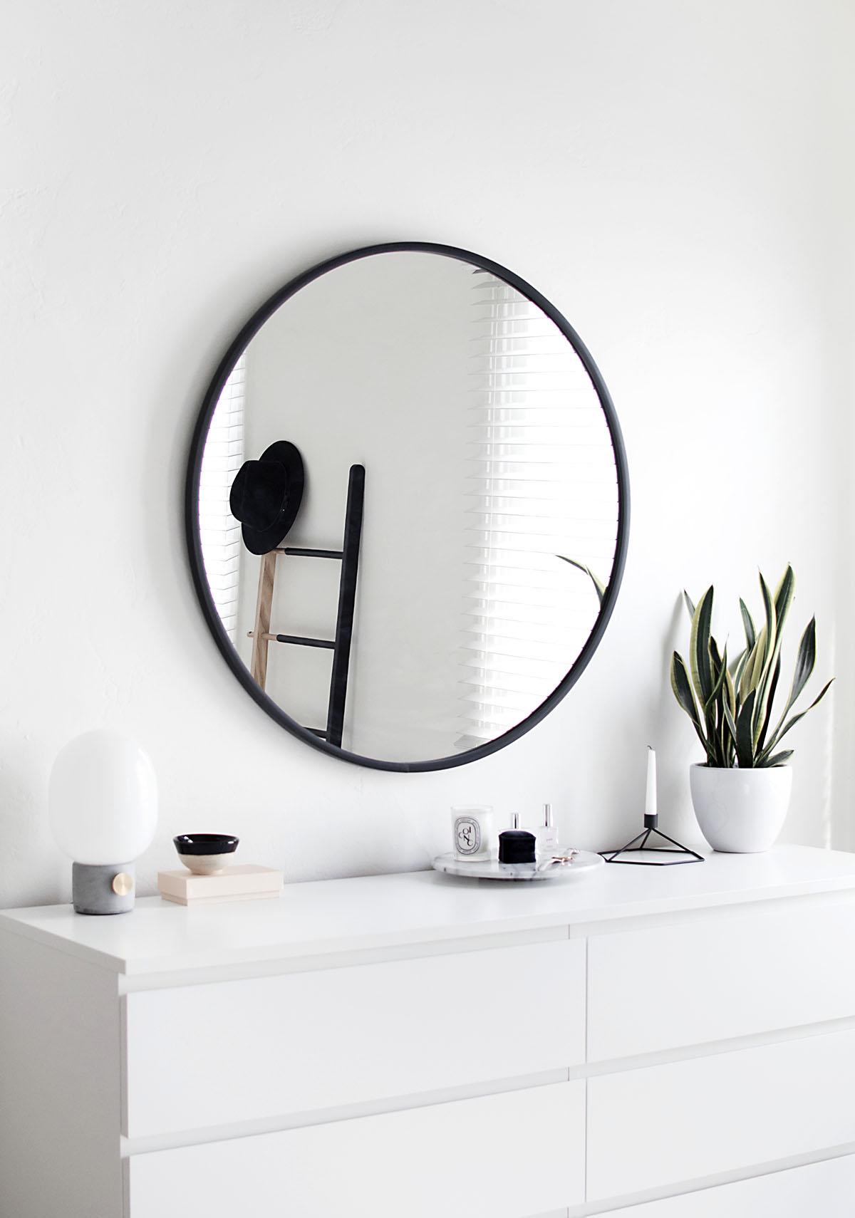 Round Mirror White Dresser Homey Oh My