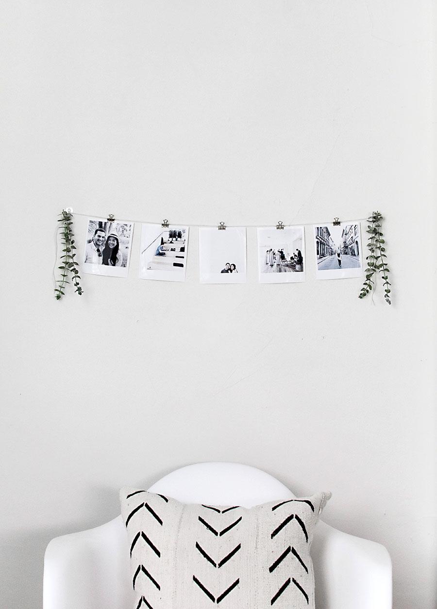 DIY Instant Film Style Photo Garland - Homey Oh My