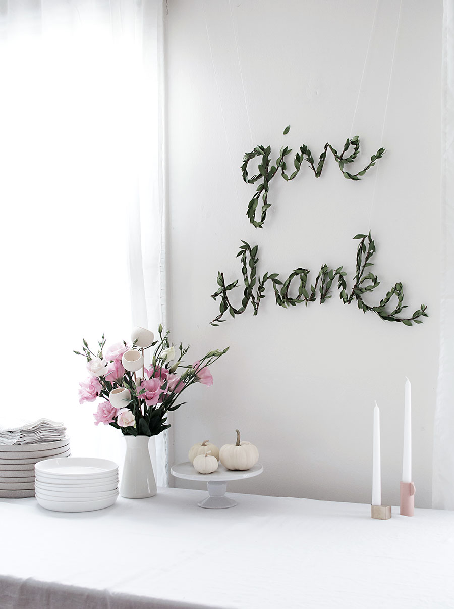 Diy Thanksgiving Greenery Garland Homey Oh My