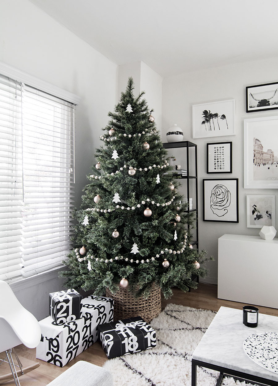 Minimal Scandinavian Christmas Tree Homey Oh My