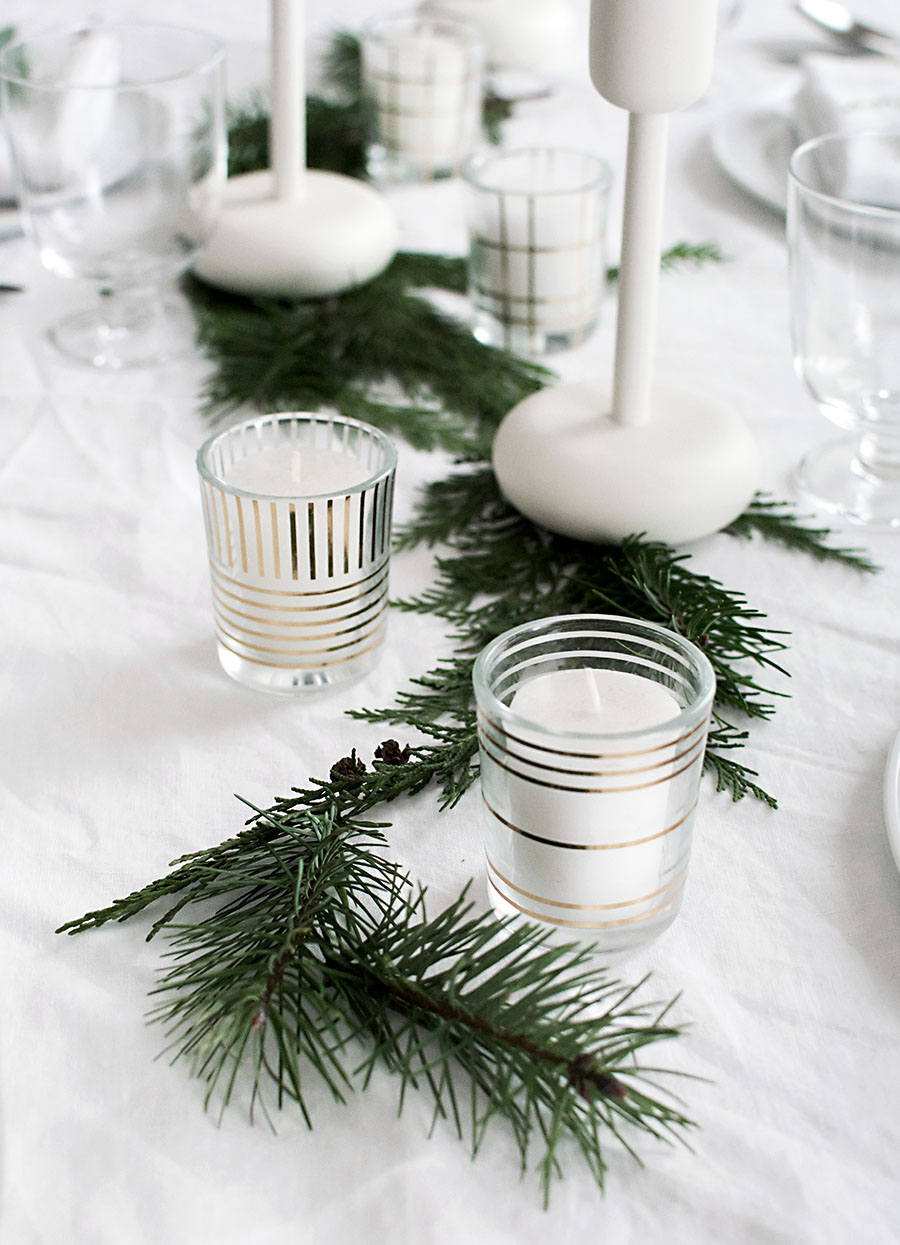 diy-gold-patterned-candle-holders