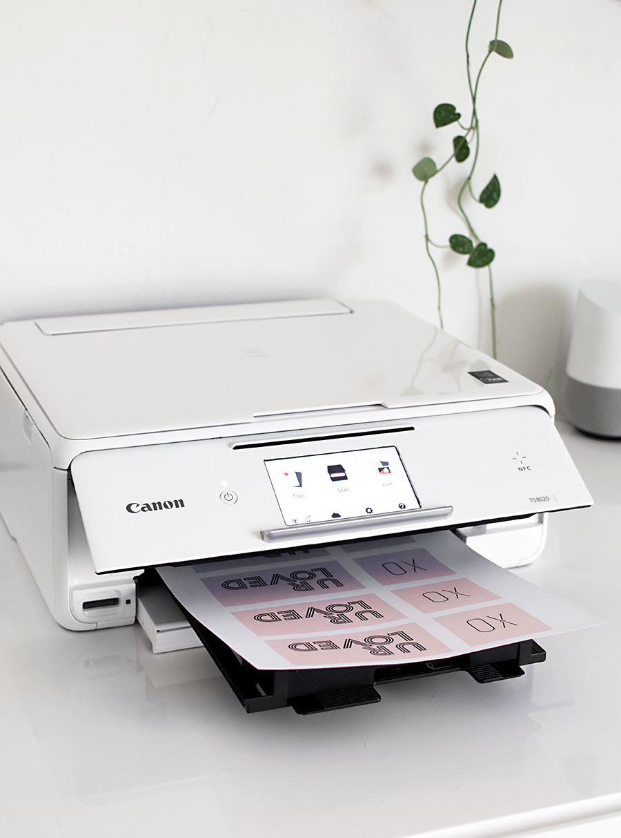 graphic regarding Printable Printers identified as Printable Valentines + Canon Printer Giveaway - Homey Oh My
