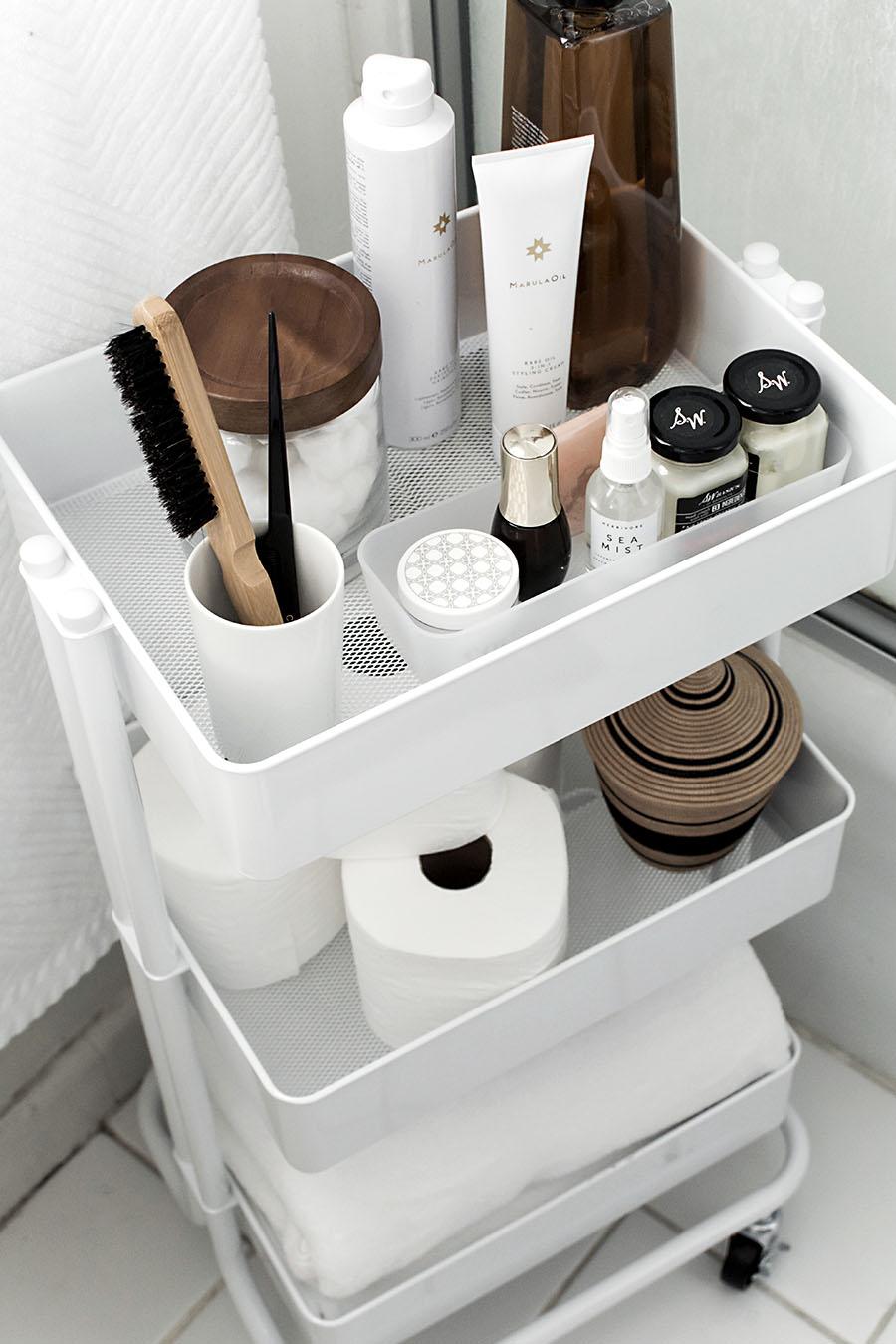 Bathroom make up storage idea