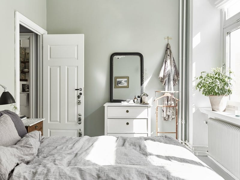 sage green bedroom walls - Homey Oh My