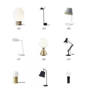 15 Modern Minimal Table Lamps