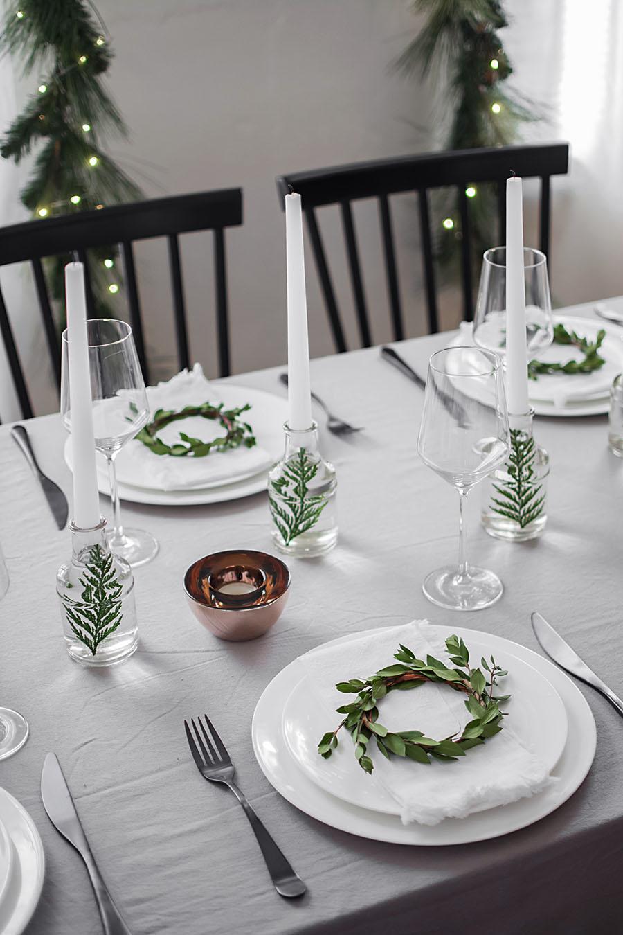 Alternatives Weihnachtsessen.Modern Christmas Table Homey Oh My