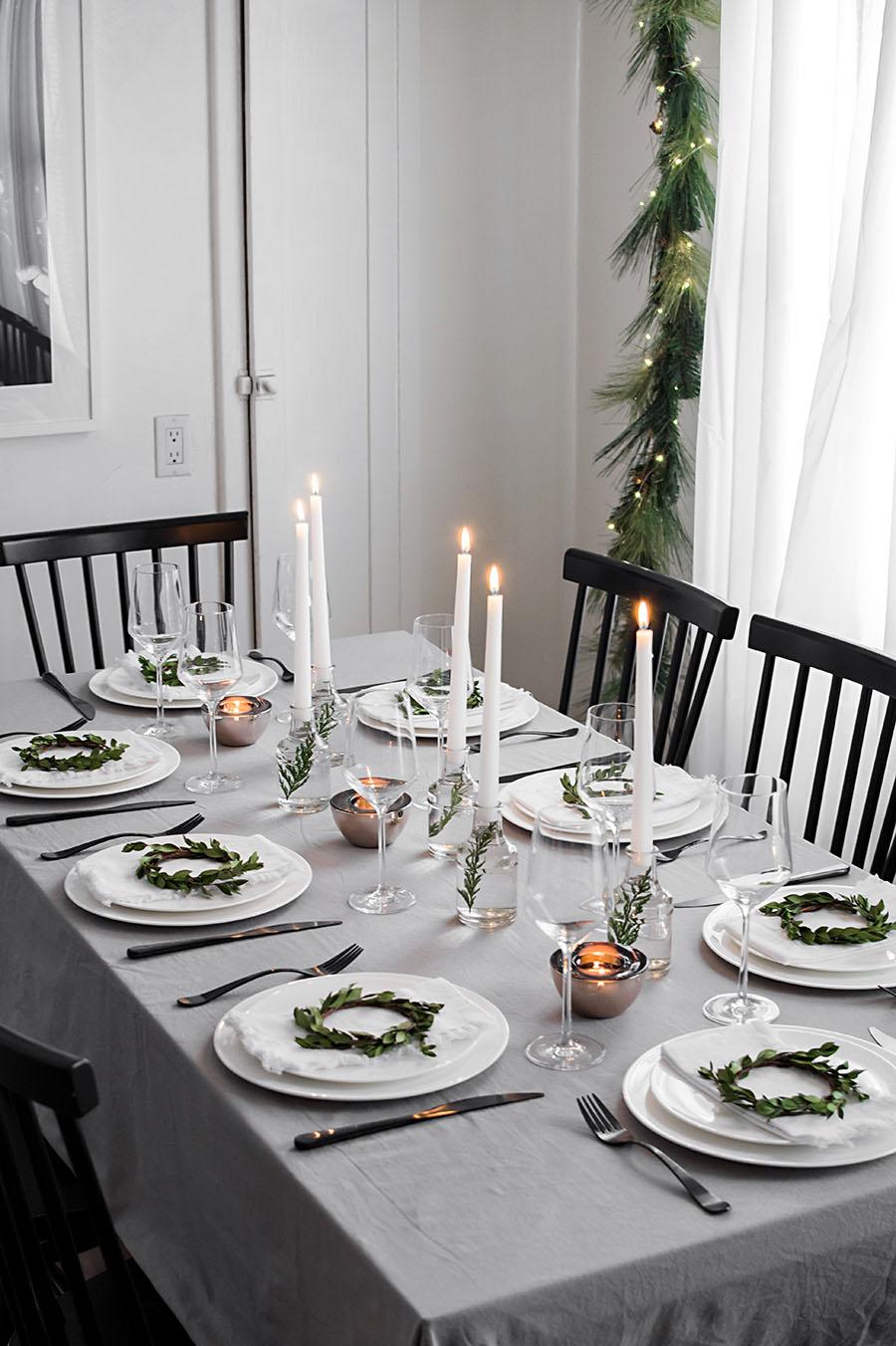 Modern Christmas Table Homey Oh My